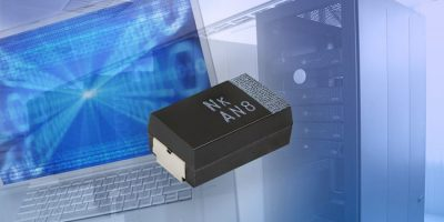 Polymer tantalum chip capacitors improve frequency response