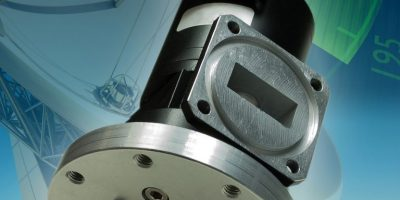 Microwave rotary joint meets satellite tracking needs