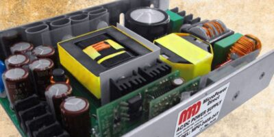 AC/DC power supply has PFC for variety of industries