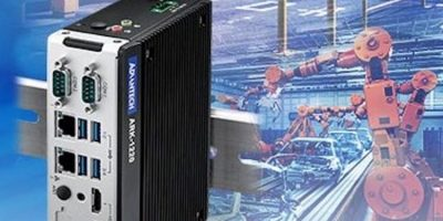 DIN-rail fanless embedded box PC adds intelligence