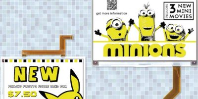 Large e-paper displays add a dash of yellow to signage