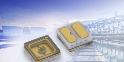 Enduring ceramic/quartz based UVC emitting diode is in SMD package