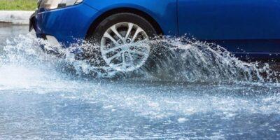 RFID label with sensor tests vehicle water ingress rates