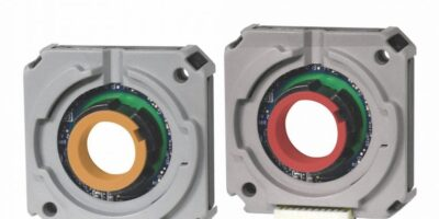 Capacitive incremental encoder supports shafts up to 15.875mm