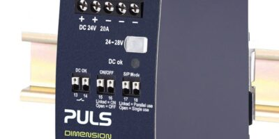DIN-rail power supply's remote control simplifies output control
