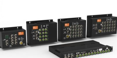 M12-based Ethernet switches are for rail applications