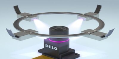 LED curing lamp bonds in tight spaces, in seconds