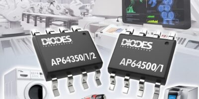Synchronous buck converters have gate driver technology for EMI performance