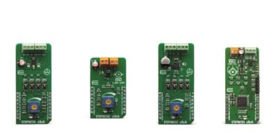 Four Click boards simplify motor control