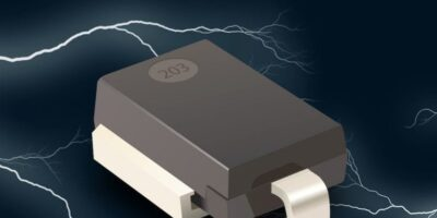 TVS diode protects and is AEC-Q101-qualified