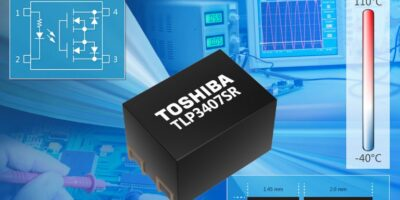 Voltage drive photorelay's footprint reduces equipment size, says Toshiba