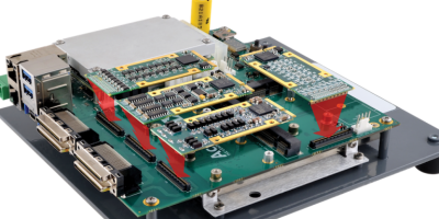 COM Express carrier has four I/O modules for data acquisition and control