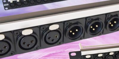 Pre-assembled XLR connector rack panel saves space