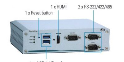 Fanless embedded PC is certified for in-vehicle use