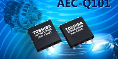 Automotive MOSFETs are in SOP Advance package for 48V systems