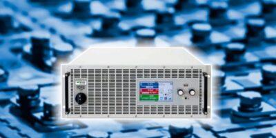 4U power supply rack unit returns test energy to the grid
