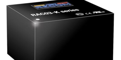 Recom RACC03-K encapsulated converters are available from RS Components