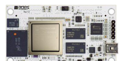 Aries bases SoM on Microchip's PolarFire SoC FPGA