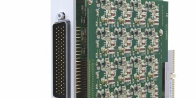 Thermocouple simulation module has 32 channels in one PXI slot