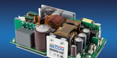 Recom announces 550W with baseplate cooling for medical equipment