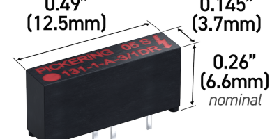 Pickering Electronics excels in miniaturisation with Series 131 reed relay