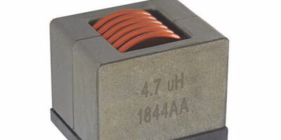 Automotive-grade IHDM inductor is stable up to 150A