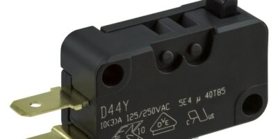 Microswitches are halogen-free and flame-retardant