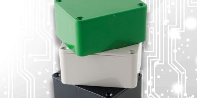 ABS enclosures have integral slots for PCBs