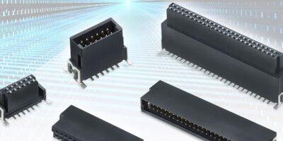 Board-to-board connectors operate at 3Gbits per second