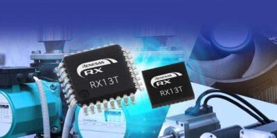 RX13T 32-bit microcontroller controls on-off motor switching