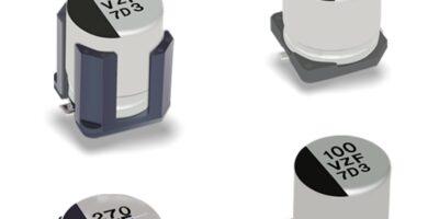 Electrolytic capacitors are AEC-Q200-compliant