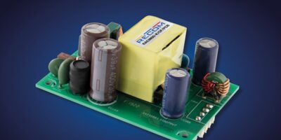 Open frame AC/DC power supply is low profile
