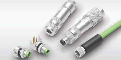 M8 D-Code connectors support high data bandwidths for Ethernet applications