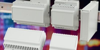 DIN rail enclosures can be mixed and matched