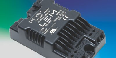 Voltage sensors are compact and meet rail requirements
