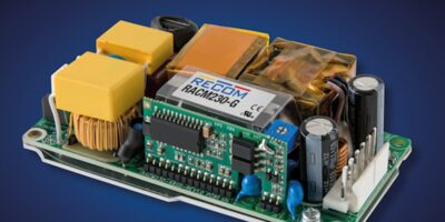 Compact 230W power supply has medical certification