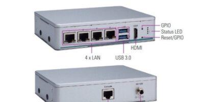 LAN desktop appliance is compact and fanless