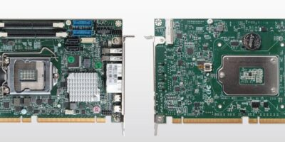 Half-size board has workstation and desktop processor options