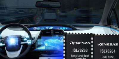 Two dual-output synchronous controllers are for automotive always-on systems
