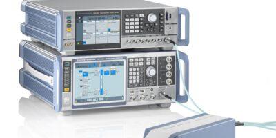 Q/V band RF upconverter tests satellite payloads
