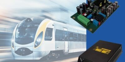 200W DC/DC converter guarantees minimum holdup for rail