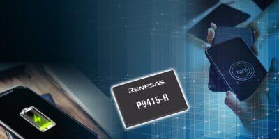 Wireless power receiver from Renesas has WattShare TRx mode