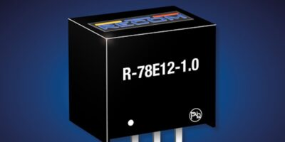 Switching regulator series by Recom now includes 12V option