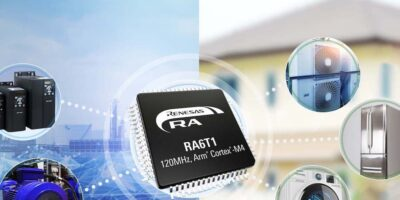 Four RA6T1 MCUs addresses motor control and AI predictive maintenance