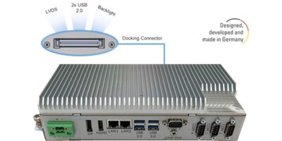 BoxPC Pro 7300 has docking connector for LVDS industrial display input