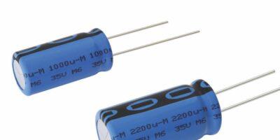 Miniature, automotive grade aluminium capacitors save space