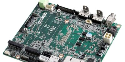 Palm-sized industrial motherboard adds intelligence to machine vision