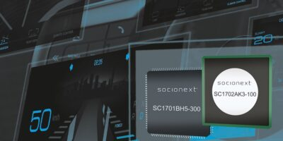 Controller provides safety functions for widescreen automotive displays