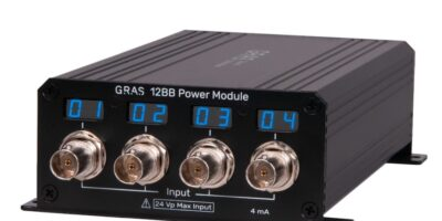 Microphone power modules from GRAS afford seamless integration with TEDS