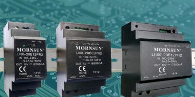 Relec introduces Mornsun's compact DIN rail power supplies